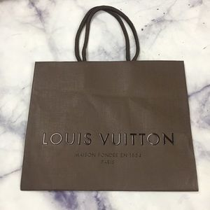 Louis Vuitton 8.5x4x7 empty tote
